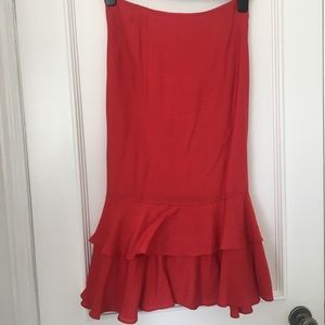 Urban Outfitters red Midi Skirt with Bow